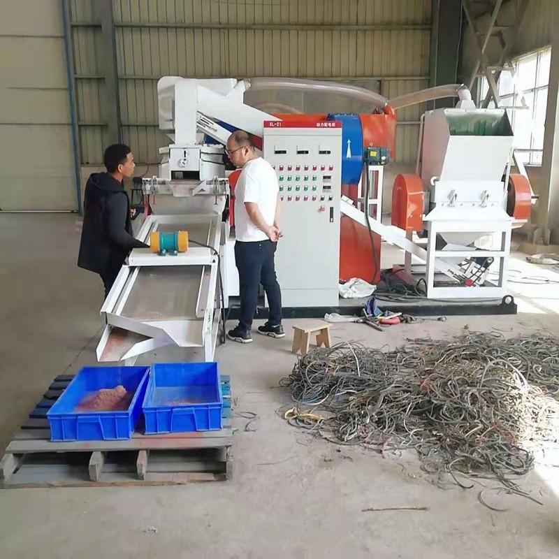 每天都有人参观的废线处理设备小型铜米机想创业的小伙伴不妨看看